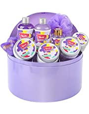 Bff Beauty Spa Gift Set for Women - 10pcs Premium Jewelry Box Lavender Bath Kit - Spa Gift Basket for Women Birthday Gift, Bridesmaid Gift, Holiday Gift
