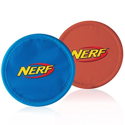 Nerf Dog Nylon Flying Disk Dog Toy, Large, , bluee and Red by Nerf Dog