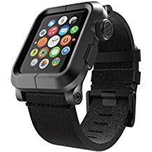 LUNATIK EPIK-010 Aluminum Case and Leather Strap for Apple Watch, 42mm