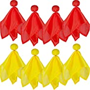 Gejoy 8 Pieces Penalty Flag Football Challenge Flags Football Referee Flag for Party Accessory