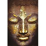 Gold Buddha (Face) Art Poster Print - 24x36