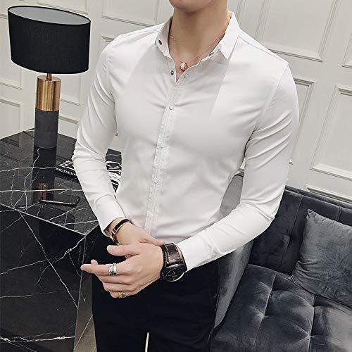 IYFBXl Ausgehendes Herrenhemd - Einfarbiger klassischer Kragen
