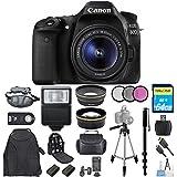 Canon EOS 80D DSLR Camera with 18-55mm STM Lens 1263C005 [International Version] (Mega Bundle)