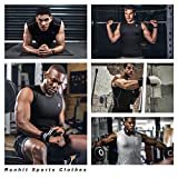 Runhit 3 Pack Sleeveless Compression Shirts for Men