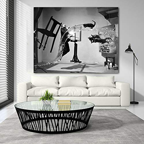 nr Salvador Dali Retrato Abstracto Cuadro Lienzo Pintura Mural Sala Moderna Decoracion del hogar-50x70cm Sin Ma