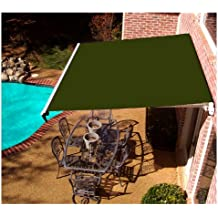 Awntech Beauty-Mark Maui LX, 14'  Left Motorized Retractable Awning, Olive
