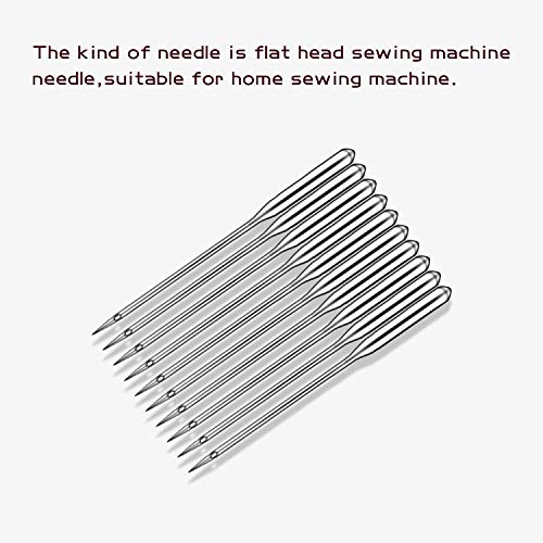 Sewing Machine Needles, 60 Count Heavy Duty Home Sewing Machine Needles, Universal Regular Point for Singer, Brother, Janome, Varmax, Sizes HAX1 65/9, 75/11, 80/12, 90/14, 100/16, 110/18 (Style 1)