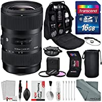 Sigma 18-35mm f/1.8 DC HSM Art Lens for Canon with Deluxe Accessory Bundle and Xpix Cleaning Kit