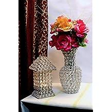 Glass Crystal Flower Vase Pots Wedding Table Centerpieces 24CMS