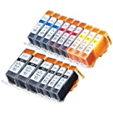 Zulu Inks® Compatible Ink Cartridge Replacement for CLI-226 , PGI-225 3 Small Black, 3 Cyan, 3 Magenta, 3 Yellow, 3 Big Black for PIXMA iP4820, PIXMA iP4920, PIXMA iX6520, PIXMA MG5120, PIXMA MG5220, PIXMA MG5320, PIXMA MG6120, PIXMA MG6220, PIXMA MG8120, PIXMA MG8120B, PIXMA MG8220, PIXMA MX712, PIXMA MX882, PIXMA MX892. Ink Cartridges for Inkjet Printers. CLI-526BK , CLI-526C , CLI-526M , CLI-526Y , PGI-525BK © Zulu Inks