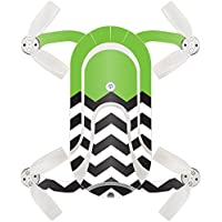 Skin For ZEROTECH Dobby Pocket Drone – Lime Chevron | MightySkins Protective, Durable, and Unique Vinyl Decal wrap cover | Easy To Apply, Remove, and Change Styles | Made in the USA