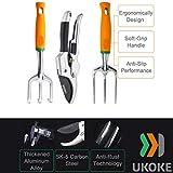 UKOKE Garden Tool Set, 12 Piece Aluminum Hand