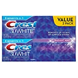 Best At Home Teeth Whitening Crest 3D White Radiant Mint Whitening Toothpaste, 3.5 oz Twinpack
