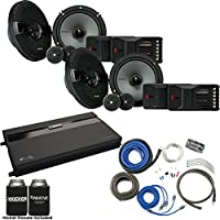 Kicker Two Pairs Of 44KSS6504 6.5 Component Speakers, a MB Quart ZA2-1600.4 4-Channel Amp & Wire Kit