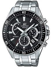 Casio Edifice Herren Massives Edelstahlgehäuse und Edelstahlarmband Uhrenarmband EFR-552D-1AVUEF