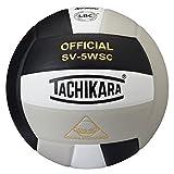 Tachikara Sensi-Tec Composite High Performance Volleyball, Black/White/Silver Gray