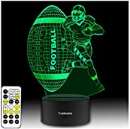 YeeSeeJee Sports Gifts 3D Night Light with 7 Colors Adjustable Timer Remote & Smart Touch Sports Gifts for