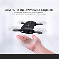 Yamally JJRC H37 Altitude Hold w/ HD Camera WIFI FPV RC Quadcopter Drone Selfie Foldable Portable Drone Flight Time 7-8 minutes WiFi Control Real-Time Transmission One Key Return Quadcopter