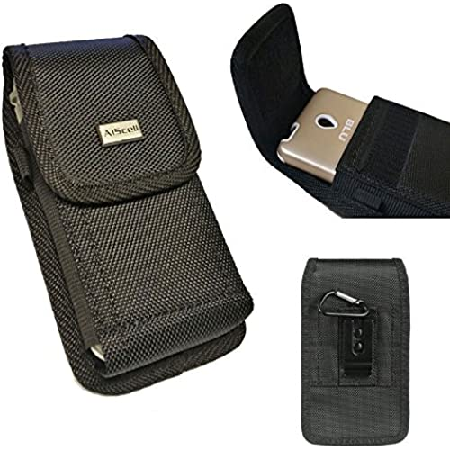 GALAXY S7 edge / NOTE 5 / On5 / J7~Plus Size Pouch Case Rugged Holster Nylon Case Duty Metal Clip+Cleaning Cloth(Fits Phone + / UAG case / Otterbox / Commuter Sales