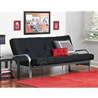 Sofas-Bedroom Furniture-Premium Full Size Metal Arm Frame With Black Mattress-Couches And Sofas-Bring Contemporary Style And Functionality To Any Room-Guaranteed!