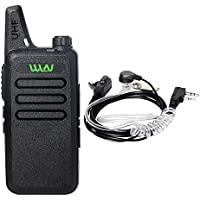 WLN KCD-1 Walkie Talkie 3W 16-Channel UHF Long Range FRS/GMRS Two-Way Radio with Earpiece