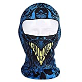 Ezyoutdoor Full Face Mask Printed Lycra Balaclava Outdoor Cap for Motorcycle Fishing Cycling Skiing Snowboarding Outdoor Sports (#008)
