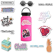 (14 Pack) Cute Computer Stickers for Teens, Girls, Women, Feminists - Stickers for Water Bottles, Hydro Flask, iPhone, Laptop | Premium Water Bottle Stickers and Decals by RipDesigns (Series 2)