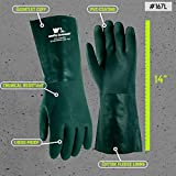 Heavy Duty PVC Chemical Gloves, One Size