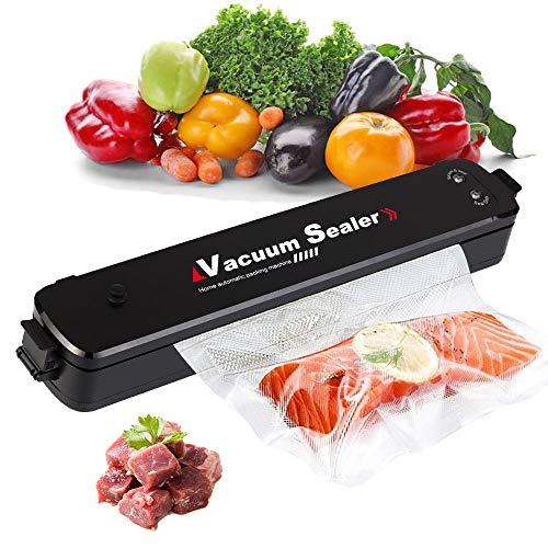 Vacuum Sealer Machine, Automatic Vacuum Sealer for Food Preservation, Suitable for Dry & Moist Food, Food Saver with 15 Vacuum Sealer Bags | Compact Design | Led Indicator Lights | Vacuum or Seal Mode