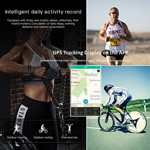 Smart Watch, Hongmed Fitness Watch for Android phones and iPhone Compatible, with Body Temperature Blood Pressure Oxygen Monitor, Waterproof Pedometer Activity Tracker With Sleep Monitor for Men Women 5