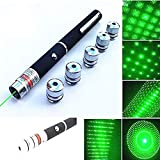 10. Best 6 in 1 Green Light Line Beam Presenter Pen Tactical Green Hunting Rifle Scope Green Pen Demo Remote Pen Pointer Projector Travel Outdoor Flashlight LED Interactive Baton Funny Toy