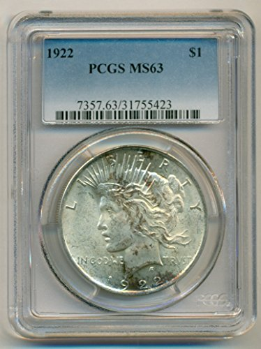 1922 Peace Silver Dollar MS63 PCGS