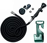 hose as seen on tv - Vela Water Hose – 75 Feet Expandable Garden Hose - Hose Holder & High Pressure Washer Spray Nozzle With 9 Settings – Best As Seen on TV Heavy Duty Kink Free Flex Hose for Car Washing & Watering Hose