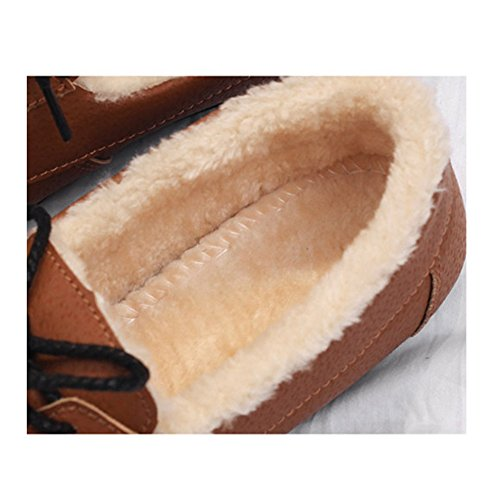 Lining Flat Women Brown Cozy Slippers Shoes Outdoor Slippers Platform Moccasin Btrada Indoor Fur Winter Loafer T8XC4dqq