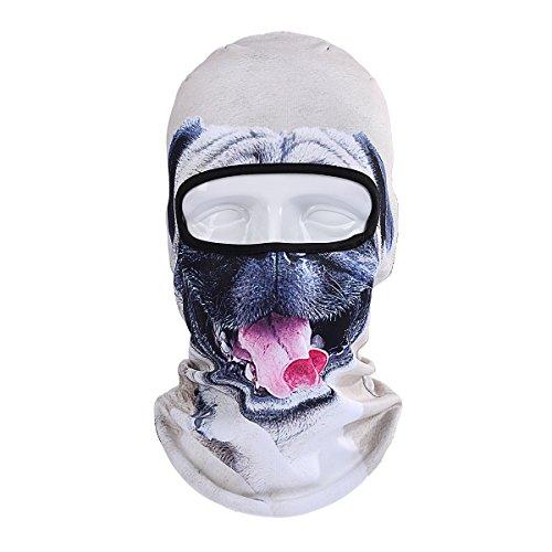 UHEREBUY Animal Cat Dog/Ski Mask Neck Warmer Face Scarf/Neck Gaiter Cover ski Snowboard Helmet Liner for Music Festivals Halloween Costume Party