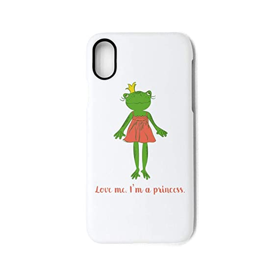 Phone Case for iPhone XCute Frog Princess Wearing Crown in red Dress Best  Cute case Design 0c948ee1f2