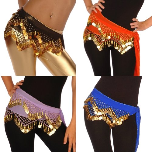 Wholesale Lots of 10 Chiffon Belly Dance Hip Scarf (Model LC) from Miss Belly Dance