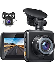Dual Dash Cam for Cars Front and Rear Dash Camera 1080P FHD Mini Car Camera with Night Vision, 170° Wide Angle, G-Sensor, Parking Monitor, Loop Recording, WDR