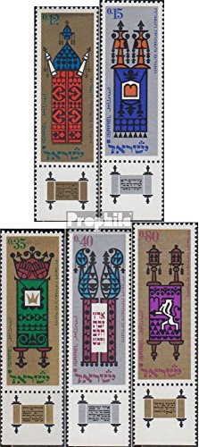 Israel 393-397 with Tab (Complete.Issue.) 1967 Thora-Roles (Stamps for Collectors) Religion