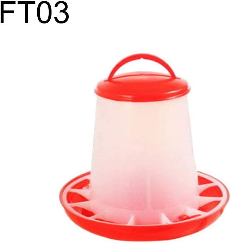 hudiemm0B Farm Chicken Poultry Drinker Feeder Chick Hen Quail Bantam Kettle Bowl Bucket Waterer FT03