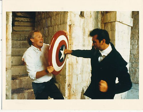 RONNY COX/CAPTAIN AMERICA (1990)/8X10 COPY PHOTO CC1575 -