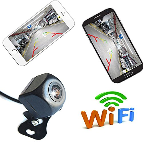WiFi Reversing Camera WiFi Car Backup Camera Realtime Video Transmitter Mini Size Waterproof Night Vision for iOS and Android app