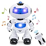 Best Choice Products Kids Electronic RC Robot Stem Toy w/Music Lights, Intelligent Walking, and Dancing -White
