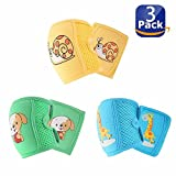 3 Pairs Baby Knee Pads for Crawling, Anti-Slip and Protect Infants & Toddlers Knees, Elbows and Legs. Adjustable Velcro Straps and Breathable 3D Mesh for Boys and Girls 0-6 Years