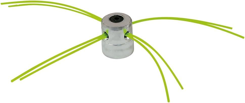 Groway 51312011 - Cabezal de Aluminio Universal para desbrozadora, 4 Hilos: Amazon.es: Jardín