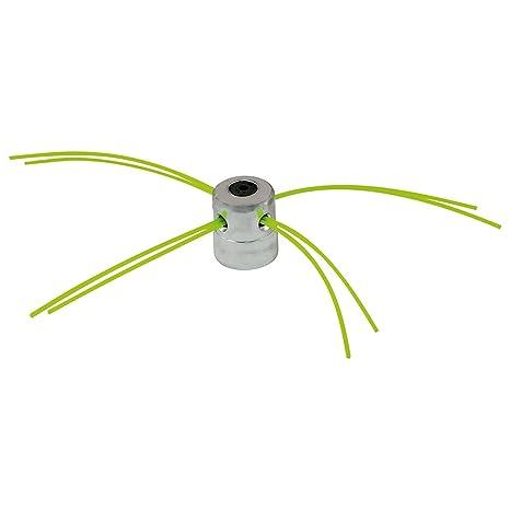 Groway 51312011 - Cabezal de Aluminio Universal para desbrozadora, 4 Hilos