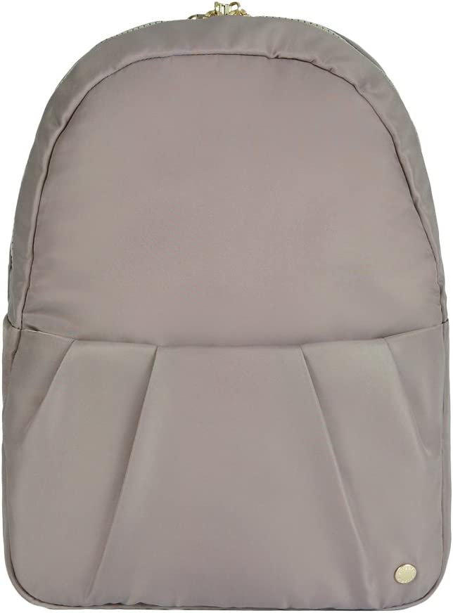"PacSafe Women's Citysafe CX Anti Theft Convertible Backpack-Fits 10"" Tablet, Blush Tan, 8 Liter"