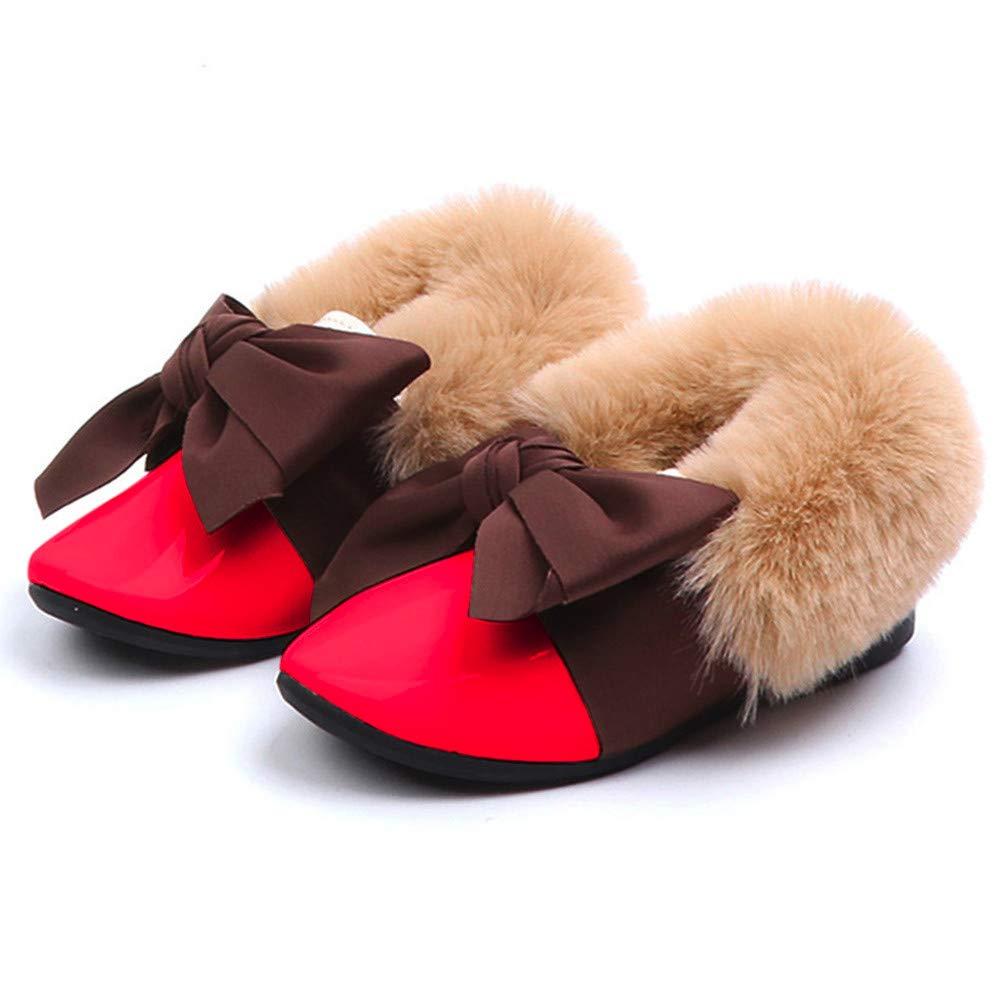 Lurryly❤Girls Casual Fur Sneaker Warm Anti-Slip Single Shoes Toddler//Little Kid//Big Kid