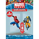 : Spiderman and Wolverine 50in Scene Setter Add-Ons 2ct