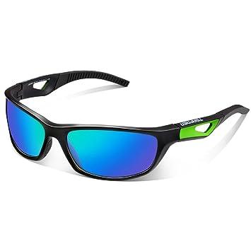 Polarisierte Sportbrille Sonnenbrille Fahrradbrille mit UV400 Schutz für Damen & Herren Autofahren Laufen Radfahren Angeln Golf TR90 aznnnt